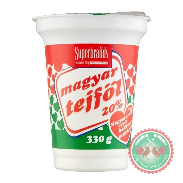 Magyar tejföl 20 % ,330 g