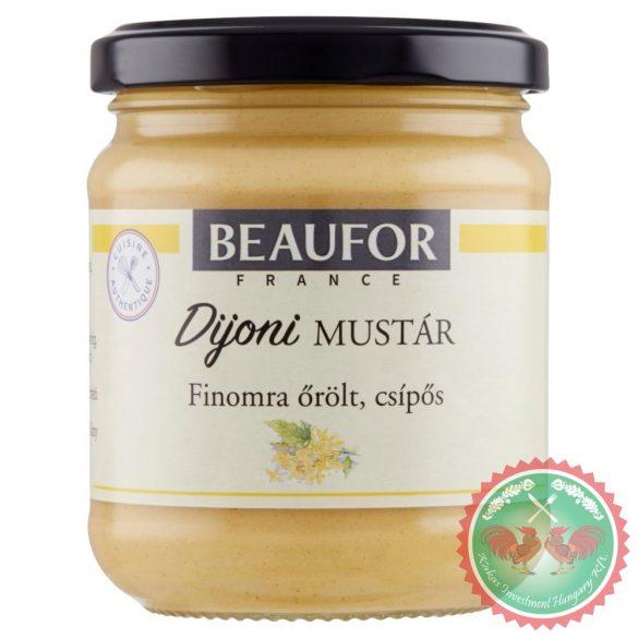 Dijoni finomra őrölt, csípős mustár /200 g/