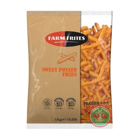 Édesburgonya hasáb (farm frites sweet potato, 9mm)